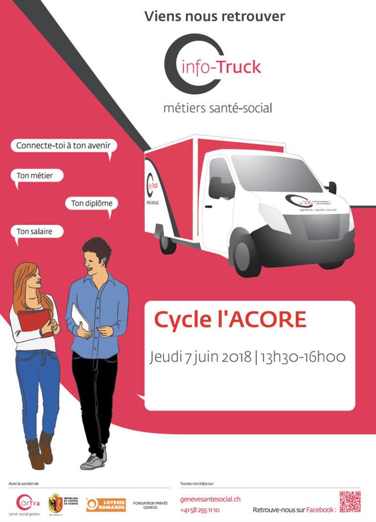 7 juin 2018 – Info-truck sur les métiers santé-social